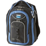 """"""", The Travelpro T-Pro Bold - Carry-On Backpack has large side-storage, water bottle and full size foam padded front pocket"""