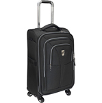 """, The Atlantic Compass Unite - 21"""" Expandable Upright Spinner Suiter features Link2Go which allows youto connect two pieces of luggage back to back with velcro straps so you can roll two pieces with one hand"