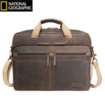 Travelpro Nglbc Classic Leather Brief-espresso Nat Geo Leather Classic