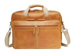 Travelpro Nglbc Classic Leather Brief-mocha Nat Geo Leather Classic Br
