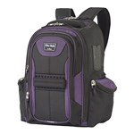 Travelpro T-pro Bold Computer Backpack-black/purple T-pro Bold Compute