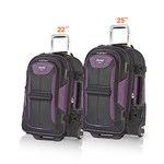 Travelpro Tpro Bold 2 Black/Purple 2 Piece set 22/25 Tpro Bold 2 - 2 P