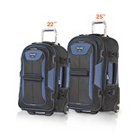 Travelpro Tpro Bold 2 Black/Navy 2 Piece set 22/25 Tpro Bold 2 - 2 Pie