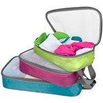 Travelon Set Of 3 Lightweight Packing Organizers Brights Set Of Ligh