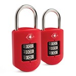 Pacsafe Prosafe 1000-Red(2-Pack) TSA Accepted Combination Lock