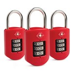 Pacsafe Prosafe 1000-Red(3-Pack) TSA Accepted Combination Lock