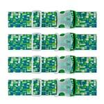 Travelon Set of 4 Luggage Strap - Green/Blue Geometric Luggage Strap