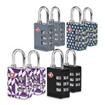Travelon Set of 8 TSA Luggage Lock(Multicolor) TSA Luggage Lock