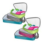 Travelon Set Of 6 Packing Organizers(multicolor) Set Of Lightweight Pa