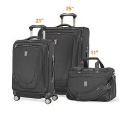 Travelpro 3 Piece Sets travelpro crew11 21 25 spinner deluxe tote black